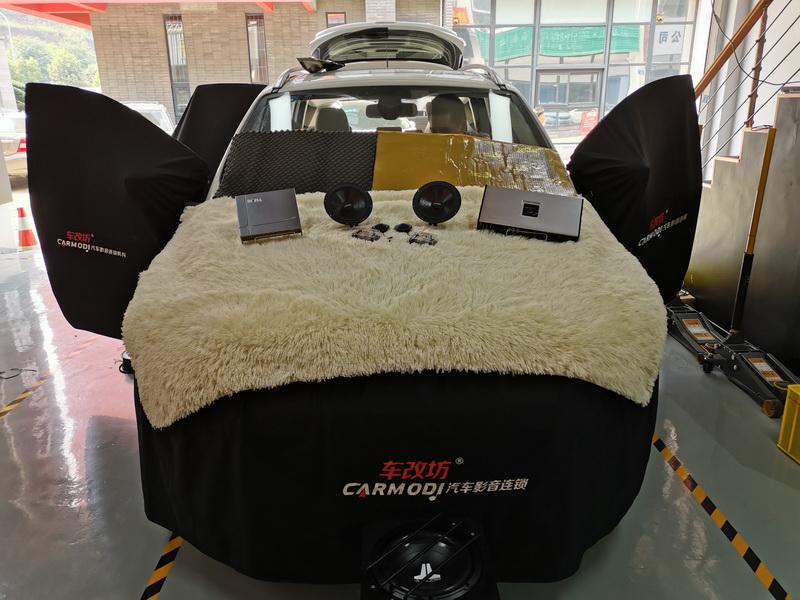 重庆车改坊福特翼虎二次隔音升级 外加汽车音响改装伊顿喇叭捷力低音