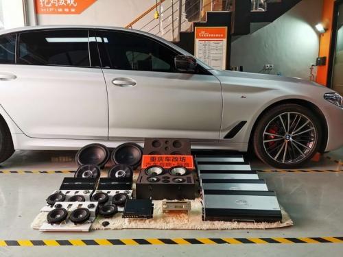 宝马530汽车音响改装德国伊顿S3旗舰三分频 经典A柱倒模尾箱工艺